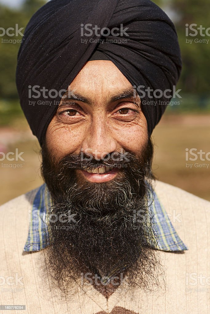Portrait of Indian Sikh man stock photo