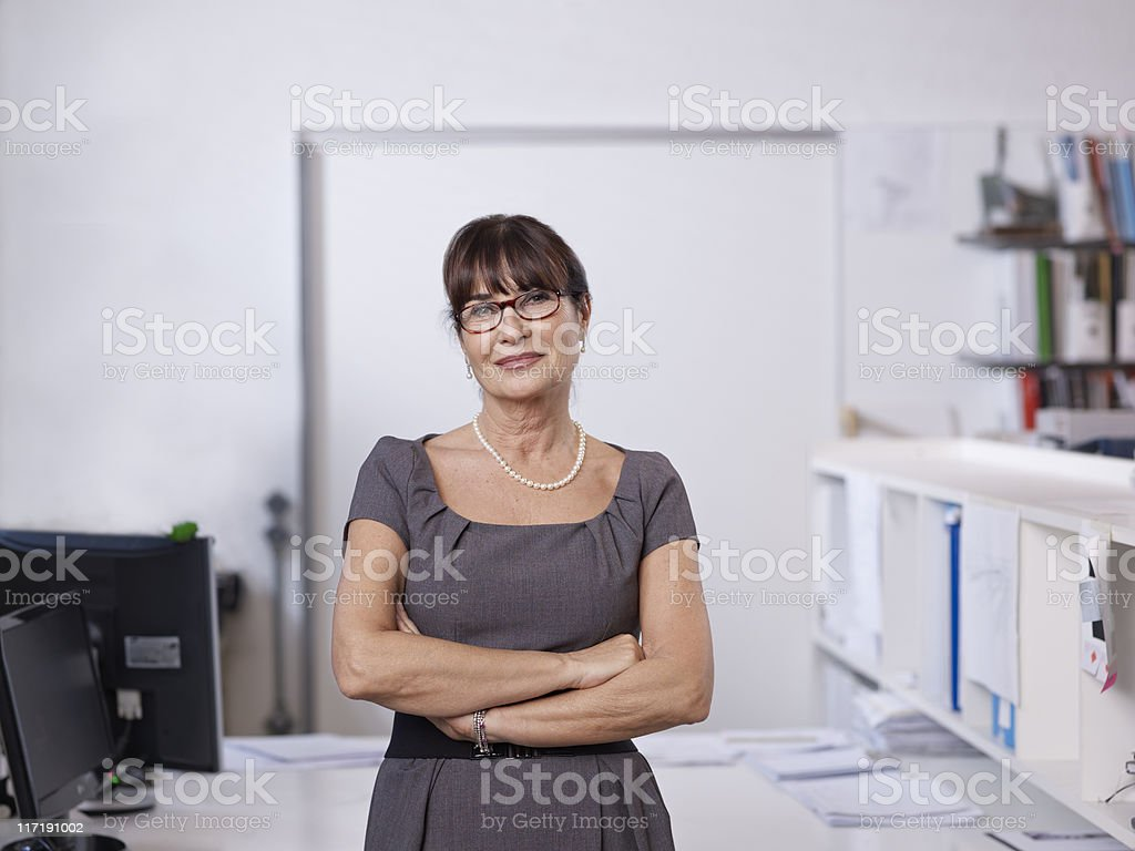 Portrait of individual Architect stock photo