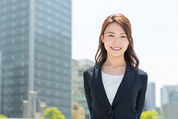 Portrait of Japanese business woman bildbanksfoto