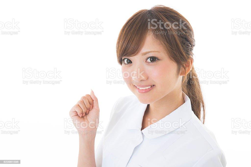 Portrait of Japanese female nurse foto royalty-free