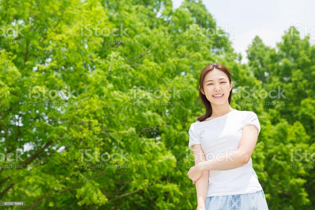 Retrato de mulher Japonesa foto de stock royalty-free