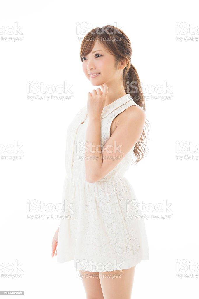 Retrato de mulher japonês  foto royalty-free