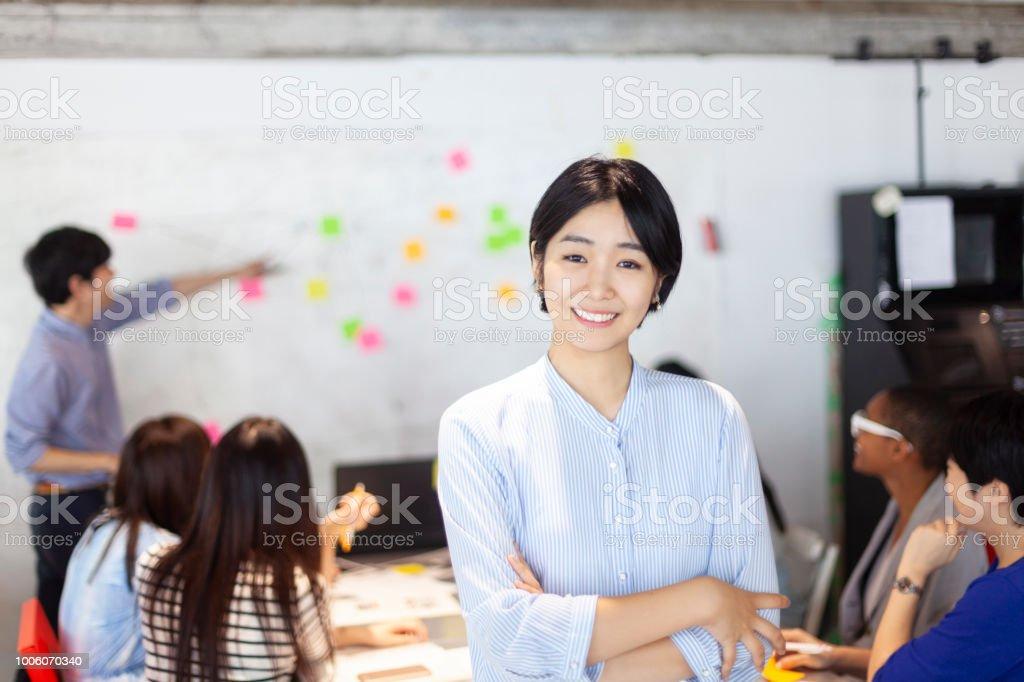 日本の若いビジネス ・ ウーマンの肖像画 ストックフォト
