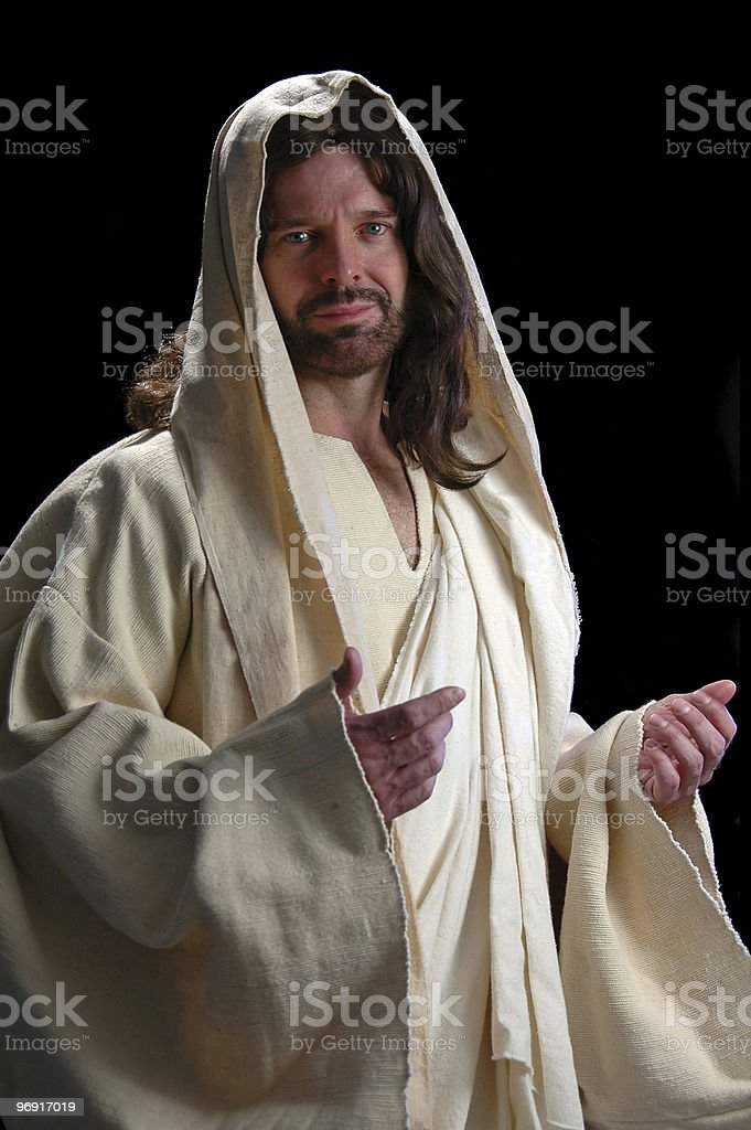 Portrait of Jesus royalty-free stock photo