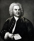 Portrait of Johann Sebastian Bach,  german composer, 1685-1750
