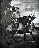 Portrait of Karl V, german emperor, 1500-1558