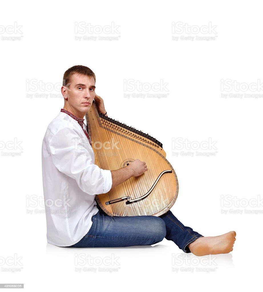 Портрет Kobzar стоковое фото