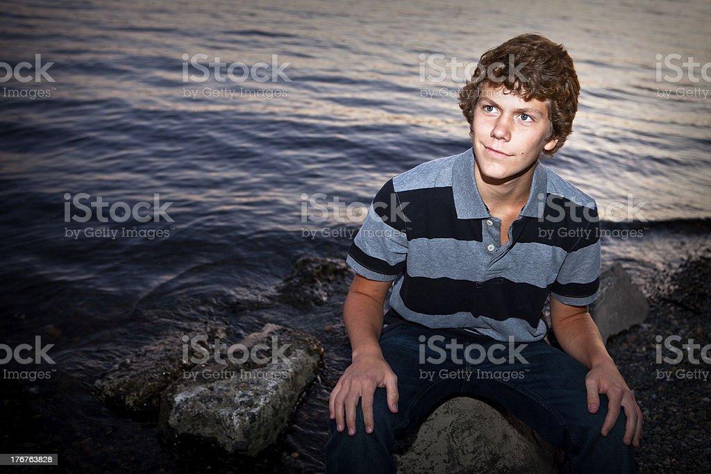 Portrait of Late Teen Boy stock photo
