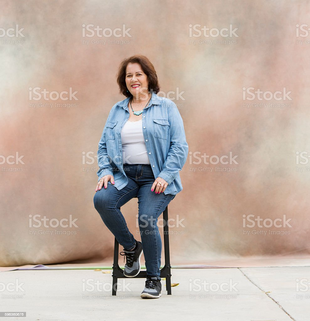 Portrait of Latina Woman stock photo