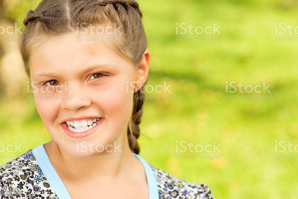 Portrait of  laughing Russian girl royalty-free stock photo