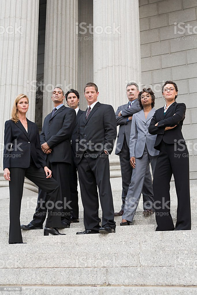 Portrait of lawyers royalty-free stock photo