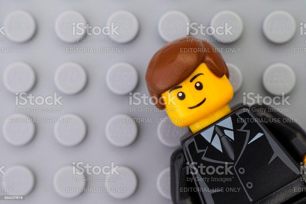 Portrait of Lego businessman minifigure - Royalty-free Brick Stock Photo