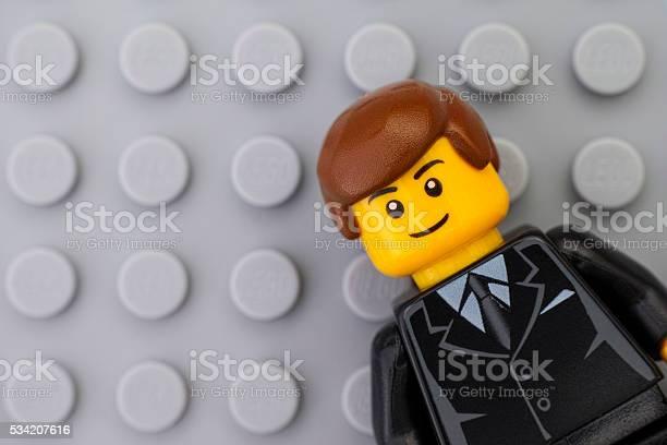 Portrait Of Lego Businessman Minifigure Stock Photo - Download Image Now