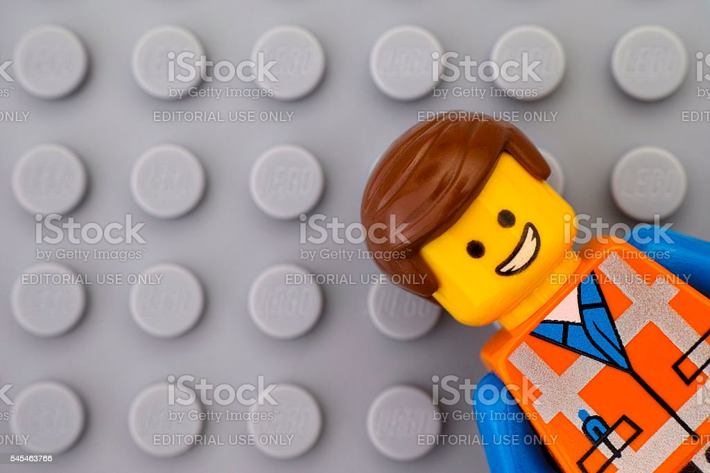 Portrait of Lego minifigure stock photo