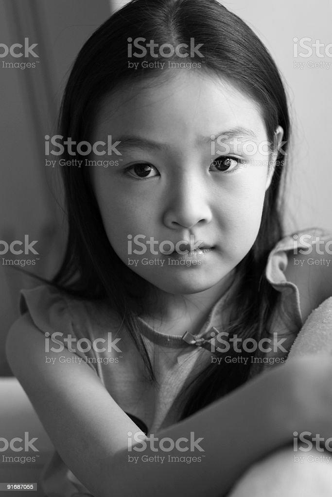 portrait of little asian girl stock photo