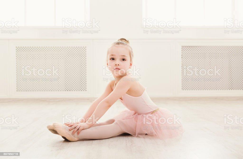 Katta, kopya alanı küçük balerin portresi stok fotoğrafı