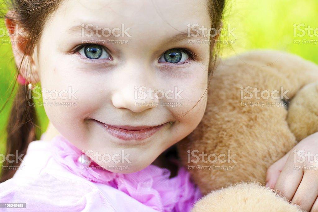 Portrait of little beautiful girl royalty-free stock photo