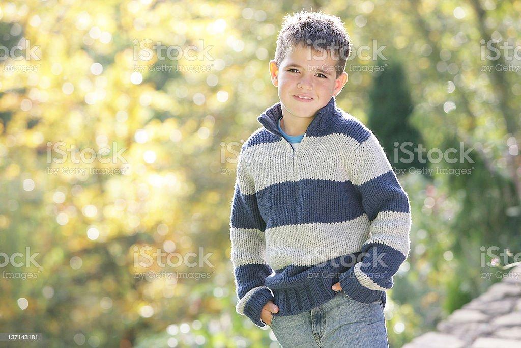 Portrait of Little Boy stock photo
