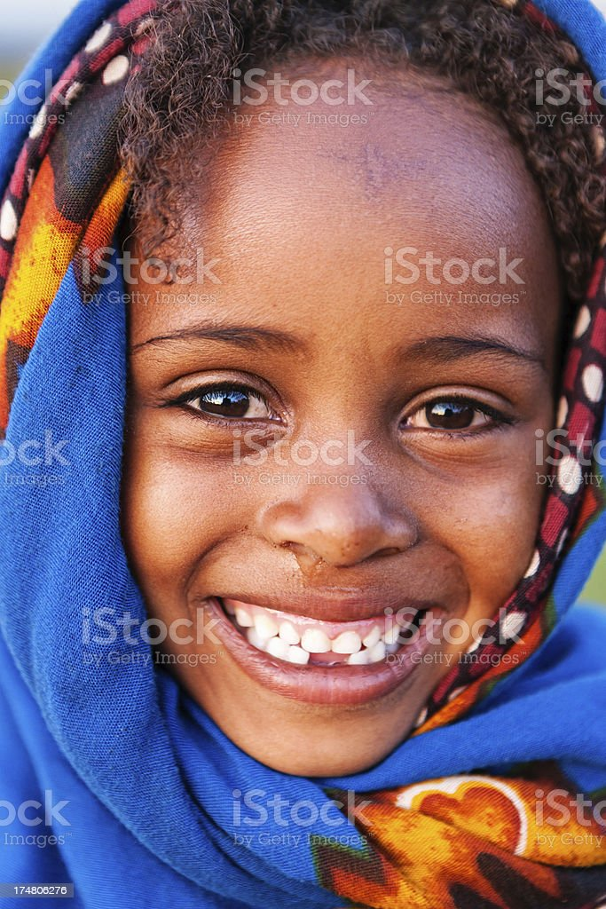 Portrait of little girl from Borana, Ethiopia, Africa royalty-free stock photo