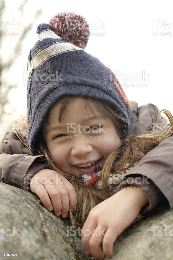 portrait of little girl laughing royalty-free stock photo