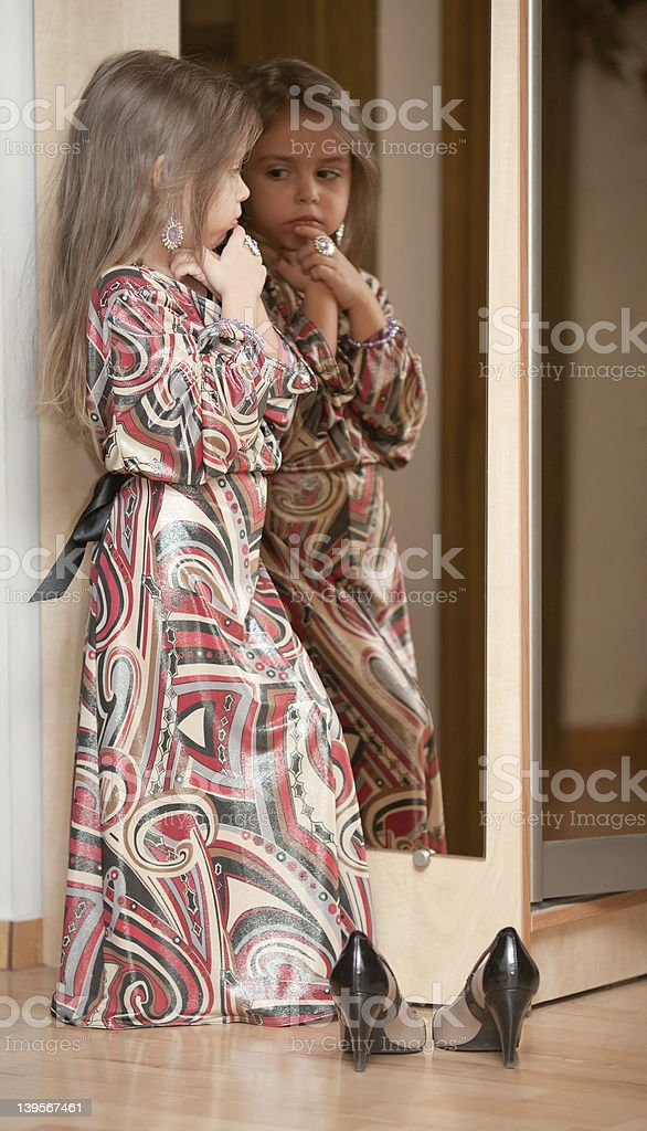 Image result for girl looking at self in mirror free image