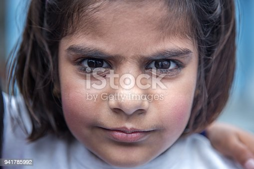 941782244 istock photo Portrait of little girl student of Indian origin 941785992