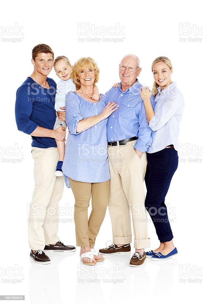 Retrato de un adorable family standing juntos - foto de stock