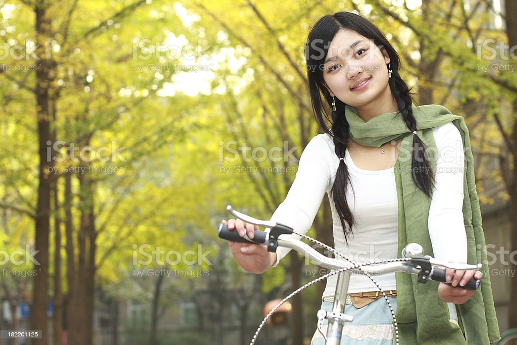 portrait of lovely young asian student royalty-free stock photo