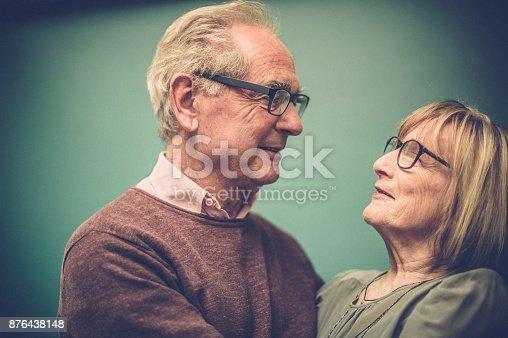 istock Portrait of Loving Senior Couple, Paris, France 876438148