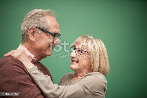 istock Portrait of Loving Senior Couple, Paris, France 876438152