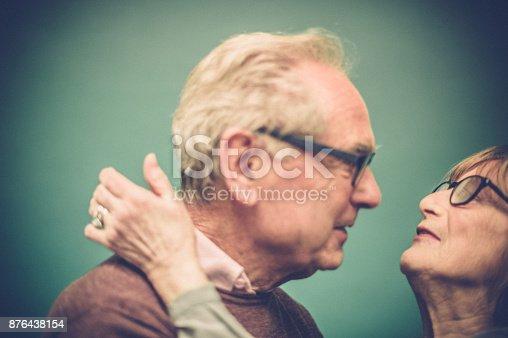 istock Portrait of Loving Senior Couple, Paris, France 876438154