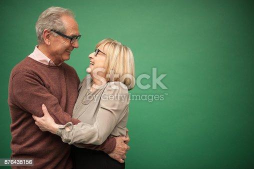 istock Portrait of Loving Senior Couple, Paris, France 876438156