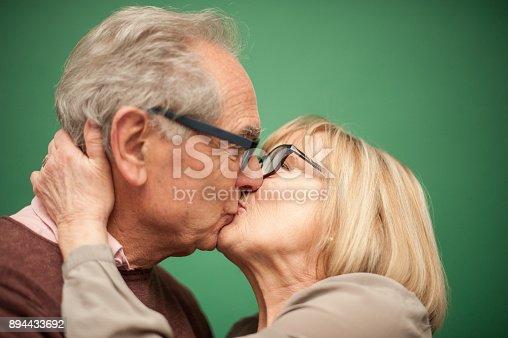 istock Portrait of Loving Senior Couple, Paris, France 894433692
