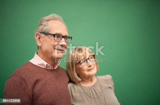 istock Portrait of Loving Senior Couple, Paris, France 894433698