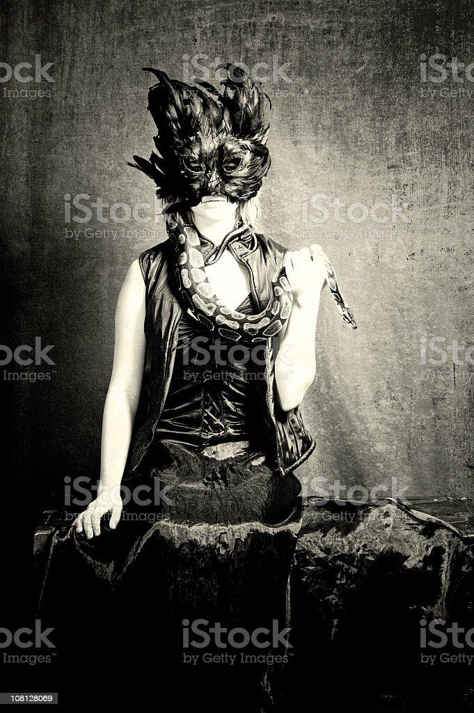 Portrait of Macabre stock photo