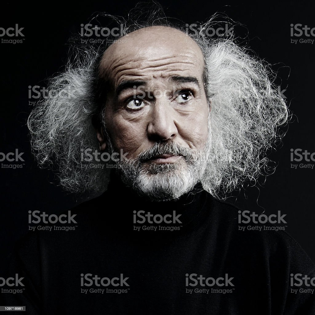 Portrait of Mad Scientist royalty-free stock photo