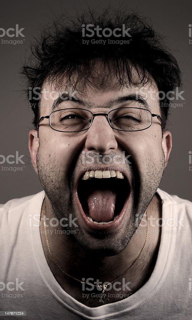 Portrait of madman royalty-free stock photo