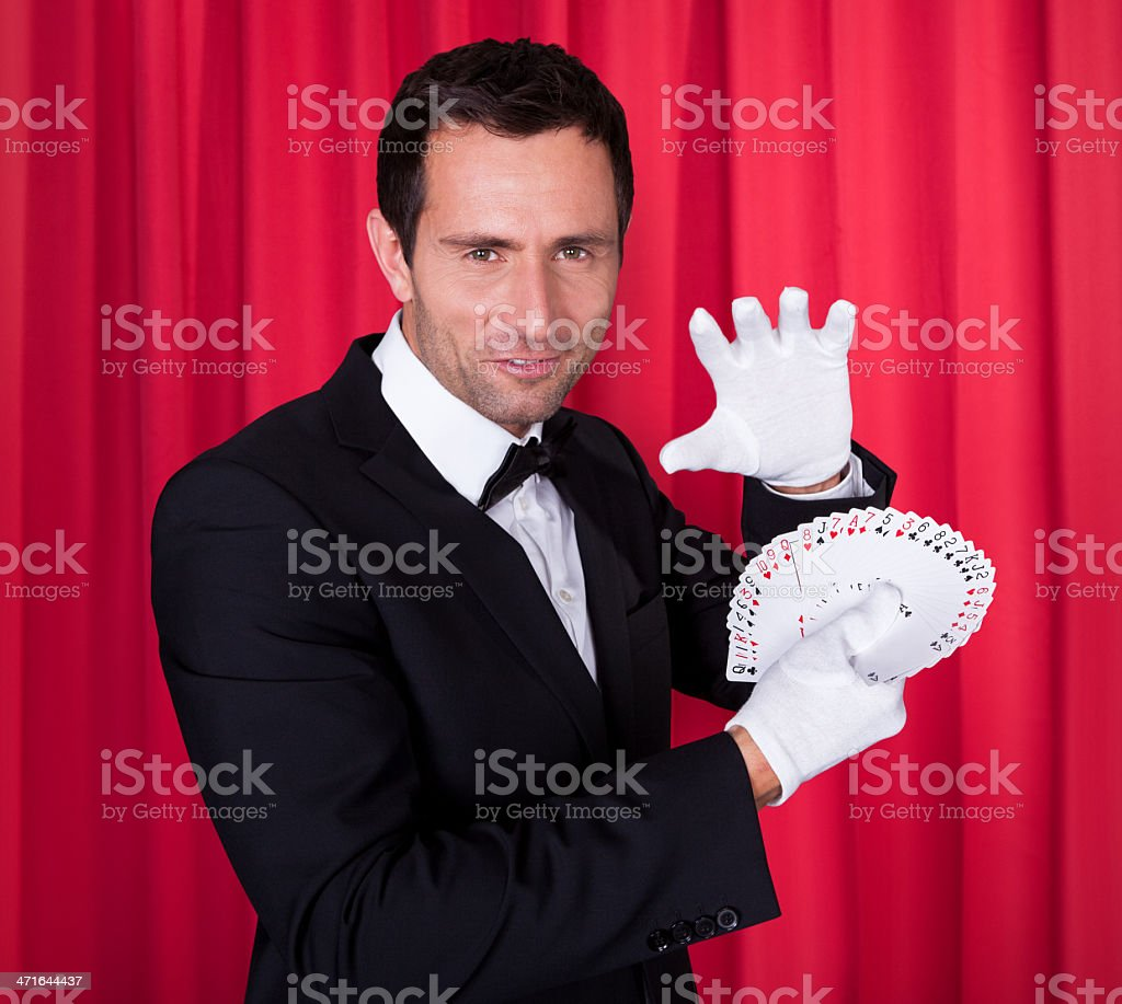 Portrait Of Magician stock photo