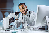 Portrait of Male Scientist Working in The Laboratory