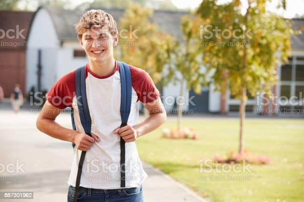 Portrait of male teenage student walking around college campus picture id887301962?b=1&k=6&m=887301962&s=612x612&h=3clukmx2gjgfivi6lvj5jjlrrse8pgs9zn89ogyz24i=