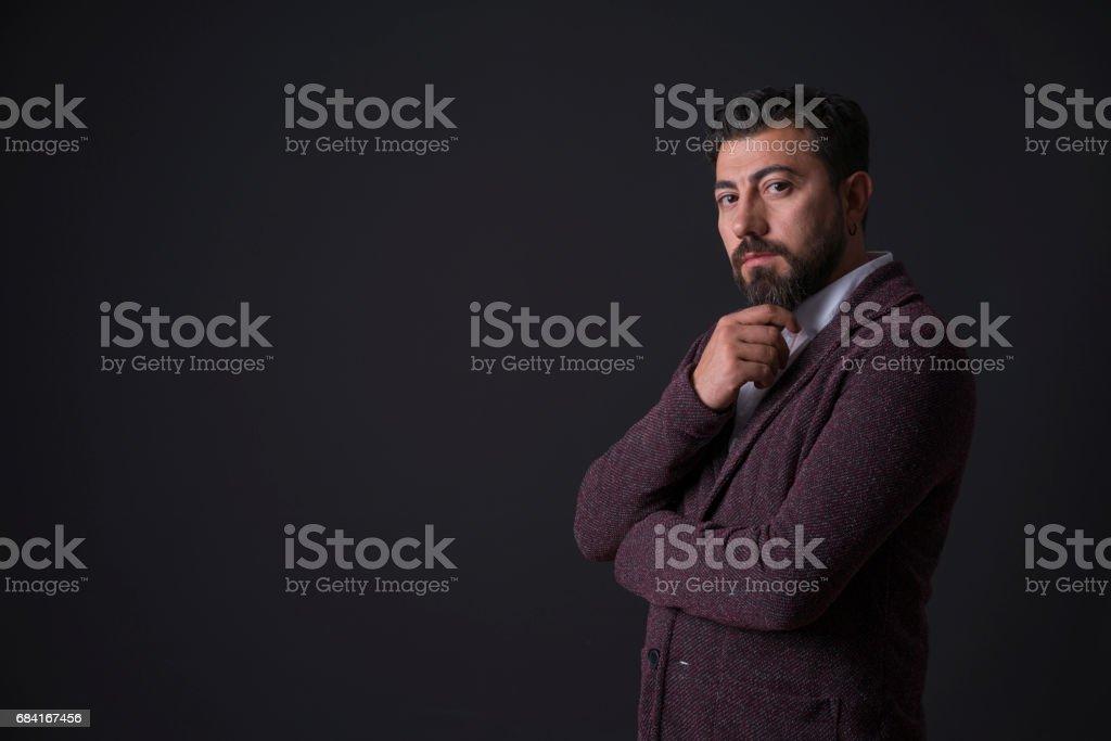 Portrait d'un homme en costume photo libre de droits