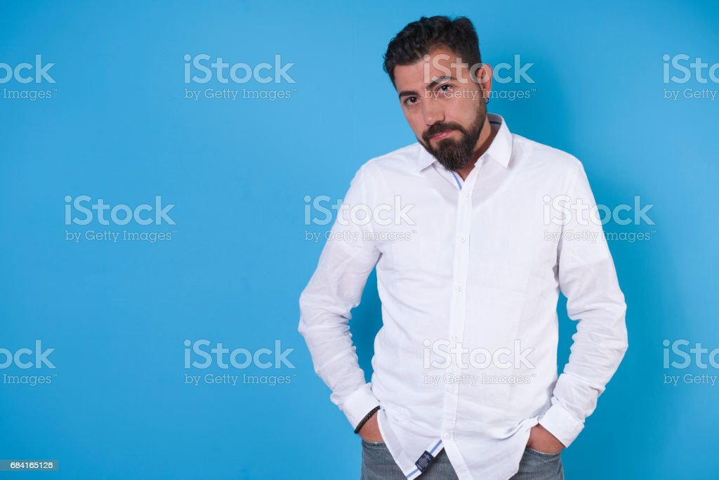 Portrait of man in white shirt foto stock royalty-free