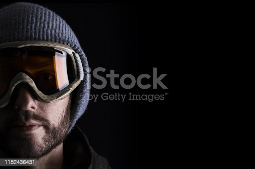 istock Portrait of man in winter sports clothing 1152436431