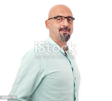 951331990 istock photo Portrait of man on white background 600067760