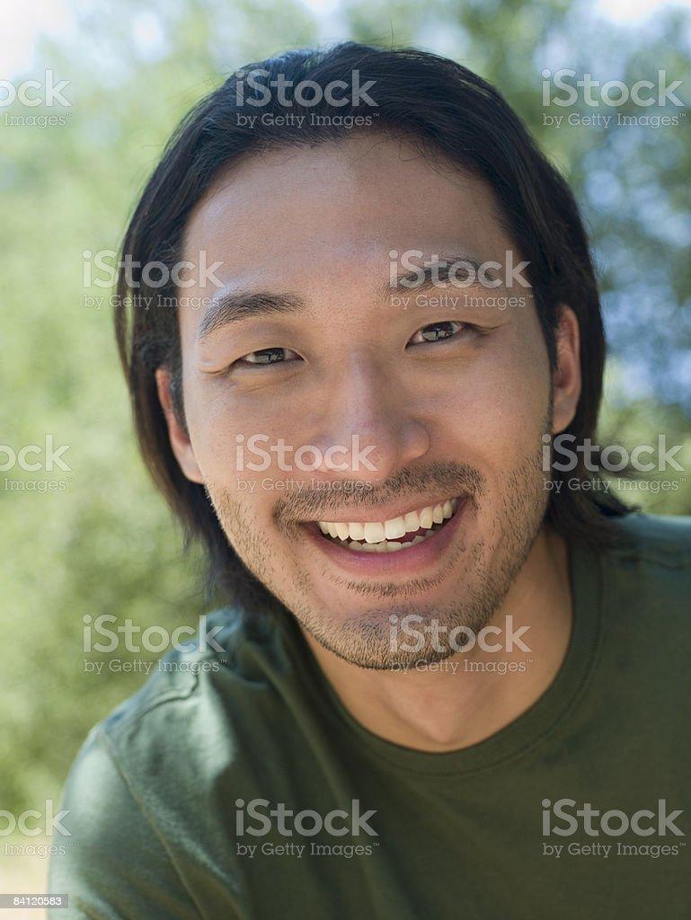 Ritratto di uomo all'aperto. foto stock royalty-free