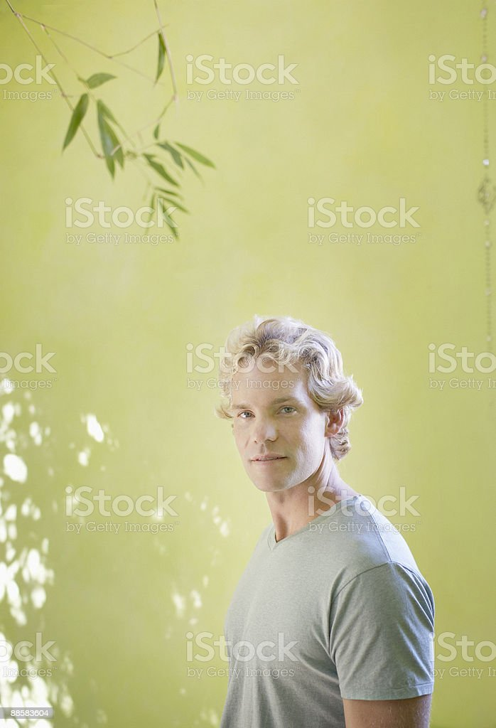 Portrait of man outdoors royalty-free stock photo