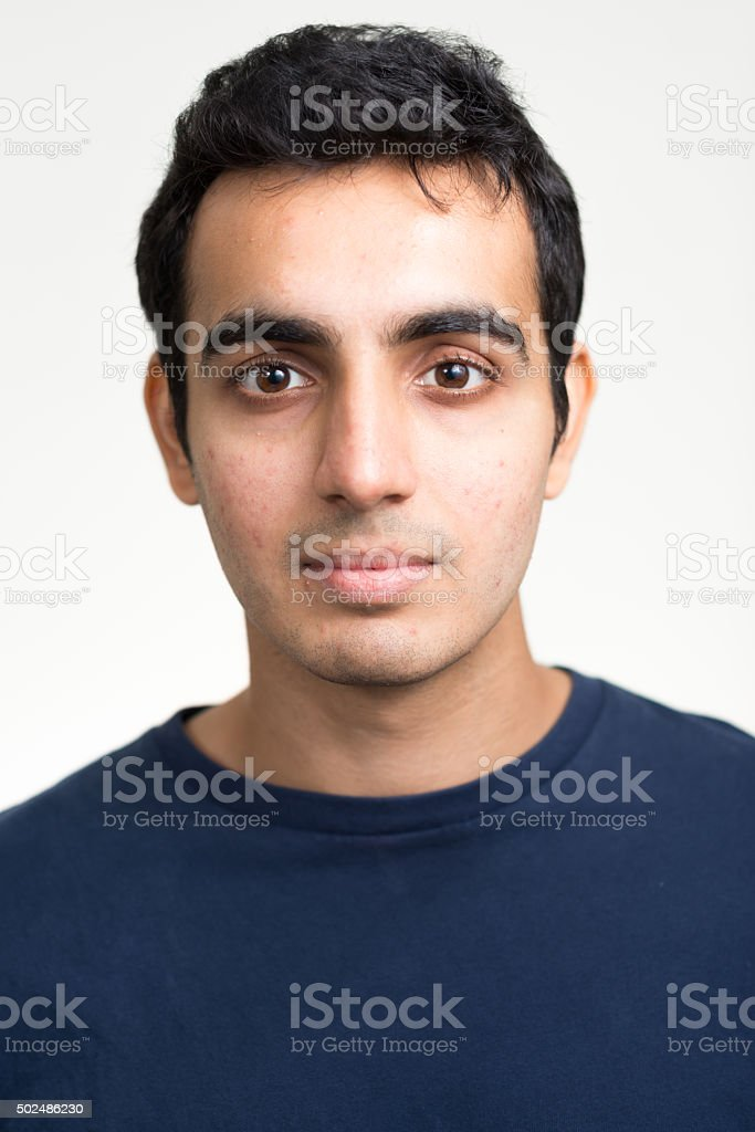 Portrait of man stock photo