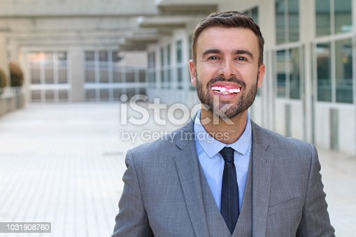 Portrait of man smiling to camera