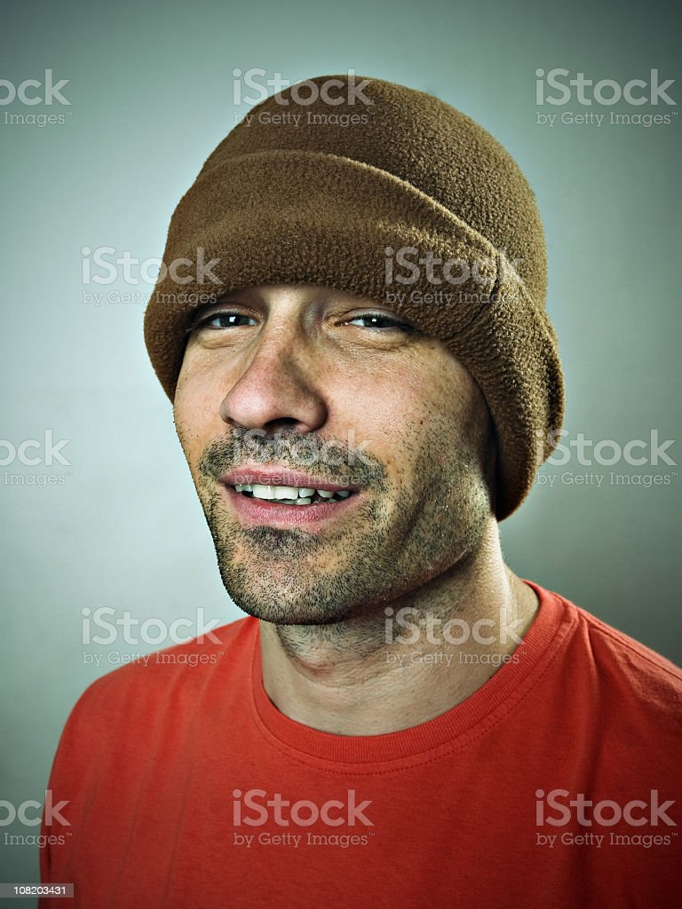 Portrait of Man Wearing Casual Clothing royalty-free stock photo