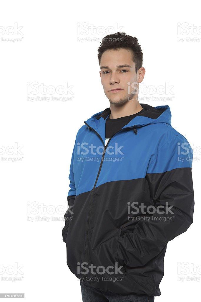 Portrait Of Man Wearing Windcheater stock photo